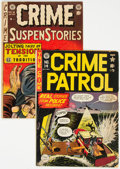 Golden Age (1938-1955):Crime, Crime Patrol #14/Crime SuspenStories #16 Group (EC, 1949-53) Condition: Average VG.... (Total: 2 Comic Books)