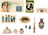 Group Lot of 12 Different Celluloid & Metal Advertising Novelties