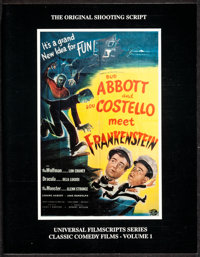 Abbott and Costello Meet Frankenstein Shooting Script (MagicImage, 1991). Very Fine/Near Mint. First Edition Softbound S...
