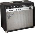 Musical Instruments:Amplifiers, PA, & Effects, Circa 2000's Fender Princeton Recording Amp Black Guitar Amplifier, Serial #M1497634.. ...
