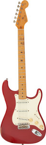 Musical Instruments:Electric Guitars, Fender Stratocaster Dakota Red Solid Body Electric Guitar, Serial # 41094.. ...