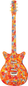 Musical Instruments:Electric Guitars, 2011 Danelectro 59 DC Psychedelic Solid Body Electric Guitar , Serial # 0950000066.. ...