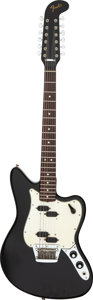 Musical Instruments:Electric Guitars, 1966 Fender Electric XII Black Solid Body Electric Guitar, Serial # 133426.. ...