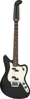 1966 Fender Electric XII Black Solid Body Electric Guitar, Serial # 133426