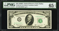 Fr. 2014-K* $10 1950D Federal Reserve Star Note. PMG Gem Uncirculated 65 EPQ