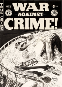 Johnny Craig War Against Crime #3 Cover Original Art (EC, 1948)