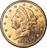 1889-S $20 MS62+ Prooflike PCGS. CAC....(PCGS# 99012)
