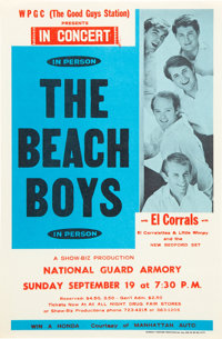 The Beach Boys 1965 Vintage Handbill and Colorful 1984 Concert Poster.... (Total: 2 Items)