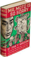 Books:Mystery & Detective Fiction, J. P. Marquand. Mr. Moto is So Sorry. Boston: 1938. First edition....