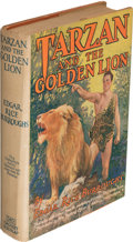 Books:Fiction, Edgar Rice Burroughs. Tarzan and the Golden Lion. New York: [1924, actually 1927]. Photoplay edition, fourth iss...