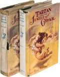 Books:Fiction, Edgar Rice Burroughs. Tarzan and the Jewels of Opar. Chicago: [1918]. First edition [With a second edition, first ... (Total: 2 Items)
