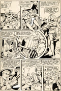Original Comic Art:Panel Pages, Matt Baker and Jack Kamen (attributed) Crown Comics #5 Story Page 9 Original Art (Golfing/McCombs Publishing, 1945...