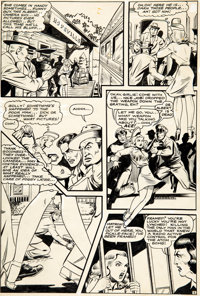 Matt Baker and Jack Kamen (attributed) Crown Comics #5 Story Page 2 Original Art (Golfing/McCombs Publishing, 1945