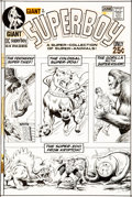 Original Comic Art:Covers, Curt Swan and Murphy Anderson Superboy #174 Cover Original Art (DC Comics, 1971)....