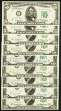Fr. 1963-G* $5 1950B Federal Reserve Star Note. Choice Crisp Uncirculated; Fr. 1966-G $5 1950E Federal Reserve