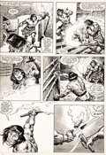 Original Comic Art:Comic Strip Art, John Buscema, Rudy Nebres, and Ernie Chan The Savage Sword of Conan #93 Story Page 44 Origin...