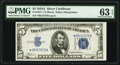 Small Size:Silver Certificates, Fr. 1651* $5 1934A Silver Certificate Star. PMG Choice Uncirculated 63 EPQ.. ...