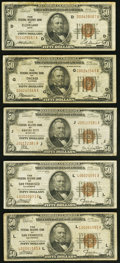 Fr. 1880-D; G; J; L (2) $50 1929 Federal Reserve Bank Notes. Fine or Better. ... (Total: 5 notes)