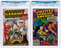 Silver Age (1956-1969):Superhero, Justice League of America #9 and 46 CGC-Graded Group (DC, 1962-66).... (Total: 2 Comic Books)