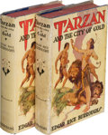 Books:Science Fiction & Fantasy, Edgar Rice Burroughs. Tarzan and the City of Gold. Tarzana: [1933]. First edition. [With a copy of the second edit... (Total: 2 Items)