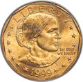 Errors, 1999-P $1 Anthony Dollar -- Struck on a Sacagawea Planchet -- MS65 PCGS....