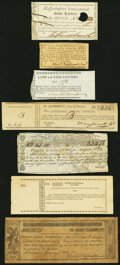 Seven Early Lottery Tickets Including Examples from Massachusetts, New York, Pennsylvania, and Rhode Island. Very Fine o...