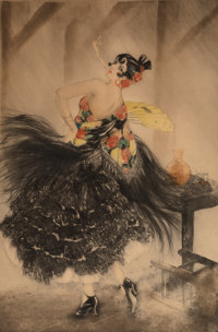 Louis Justin Laurent Icart (French/American, 1888-1950) Carmen, 1927 Etching in colors on paper 2