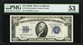 Small Size:Silver Certificates, Fr. 1703 $10 1934B Silver Certificate. PMG About Uncirculated 53.. ...