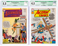 Adventure Comics #260 and #276 and CGC-Graded Qualified Group (DC, 1959-61) CGC.... (Total: 2 Items)