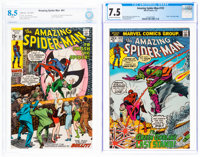 The Amazing Spider-Man #91 and 122 Certified Group (Marvel, 1970-73).... (Total: 2 Items)