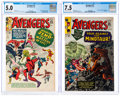Silver Age (1956-1969):Superhero, The Avengers #6 and 17 CGC-Graded Group (Marvel, 1964-65).... (Total: 2 Items)