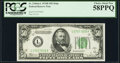 Fr. 2104-L $50 1934B Federal Reserve Note. PCGS Choice About New 58PPQ