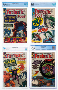 Fantastic Four Certified Group of 4 (Marvel, 1964-68).... (Total: 4 Items)