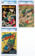 Golden Age (1938-1955):Miscellaneous, Comic Books - Assorted Golden Age Comics CGC-Graded Group (Various Publishers, 1943-58).... (Total: 3 Items)