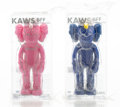Collectible, KAWS (b. 1974). BFF Companion (MoMA and Pink), two works, 2017. Painted cast vinyl. 13-1/2 x 5 x 3 inches (34.3 x 12.7 x... (Total: 2 Items)