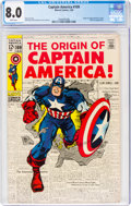 Silver Age (1956-1969):Superhero, Captain America #109 (Marvel, 1969) CGC VF 8.0 White pages....