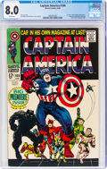 Silver Age (1956-1969):Superhero, Captain America #100 (Marvel, 1968) CGC VF 8.0 White pages....
