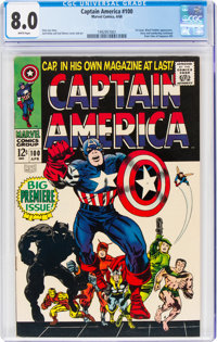 Captain America #100 (Marvel, 1968) CGC VF 8.0 White pages