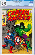 Silver Age (1956-1969):Superhero, Captain America #110 (Marvel, 1969) CGC VF 8.0 White pages....
