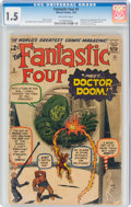 Silver Age (1956-1969):Superhero, Fantastic Four #5 (Marvel, 1962) CGC FR/GD 1.5 Off-white pages....