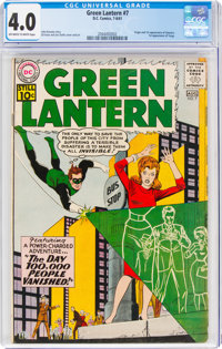 Green Lantern #7 (DC, 1961) CGC VG 4.0 Off-white to white pages