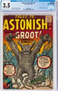 Silver Age (1956-1969):Science Fiction, Tales to Astonish #13 (Marvel, 1960) CGC VG- 3.5 Cream to off-white pages....