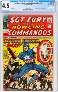 Sgt. Fury and His Howling Commandos #13 (Marvel, 1964) CGC VG+ 4.5 Off-white pages