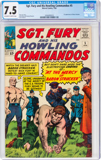 Sgt. Fury and His Howling Commandos #5 (Marvel, 1964) CGC VF- 7.5 Off-white to white pages