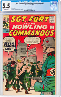 Sgt. Fury and His Howling Commandos #2 (Marvel, 1963) CGC FN- 5.5 Off-white pages