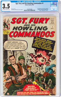 Sgt. Fury and His Howling Commandos #1 (Marvel, 1963) CGC VG- 3.5 Off-white to white pages