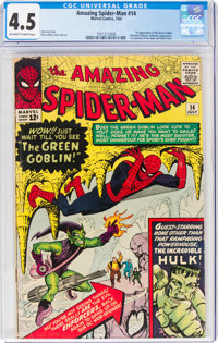 The Amazing Spider-Man #14 (Marvel, 1964) CGC VG+ 4.5 Off-white to white pages