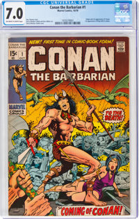 Conan the Barbarian #1 (Marvel, 1970) CGC FN/VF 7.0 Off-white to white pages