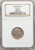 Buffalo Nickels, 1935 5C Doubled Die Reverse, FS-801 (formerly FS-018), AU58 NGC. PCGS Population: (4/3). AU58....