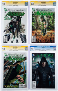 Green Arrow CGC Signature Series Group of 4 (DC, 2010-13) CGC NM/MT 9.8.... (Total: 4 Comic Books)
